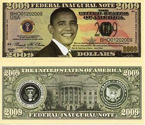 President Barack Obama Federal Inaugural 2009 Federal Inaugural Novelty Money