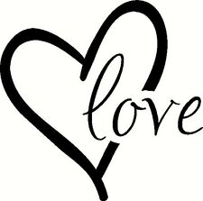 LOVE HEART Romantic Wall Lettering Words Decal Vinyl Quote Sticker Decor Art