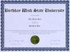 Birthday Boy Diploma Award Gag Gift