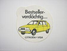 VECCHIO ADESIVO AUTO anni '80 / Old Sticker CITROEN VISA (cm 10)