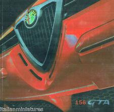 ALFA ROMEO 156 GTA qualità ad alta lucentezza FOIL tedesco opuscolo 2001 ottime condizioni