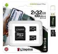 32GB MicroSD Micro SD Card 100MB/s Class 10 A1 TF Memory Card 2x 32G= 64GB Lot 2
