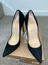 Christian Louboutin So Kate 120 Veau Velours black heels shoes sz EU38.5UK5 US7