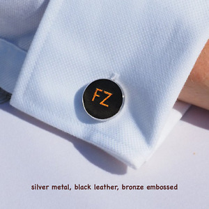 Personalised leather cufflinks, Father's Gift, 3rd Anniversary Gifts, Dad Gift