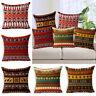 18'' Vintage Geometric Cotton Linen Throw Pillow Case Cushion Cover Home Decor