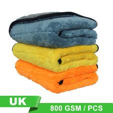 3X Microfibre Car детализация сушки полотенце для мойки чистки ткань для полировки 800GSM