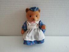 Simba Bärenwald Bär Frau blau Kleid weiß Schürze blau Haube rosa Schleife 11 cm