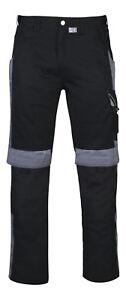 Bestwork PKA Bundhose schwarz/grau Arbeitshose sportlich Cargo Hose NEU