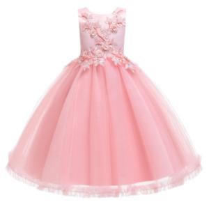 Kinder Mädchen Kleid Blumenmädchenkleider  Spitze Ballkleid Abendkleid Partyklei