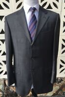 Ermenegildo Zegna Napoli Couture Sports Coat Gray Purple Surgeon Cuff Size 42 R