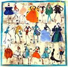 CHRISTIAN LACROIX blue border HISTORY IN HAUTE COUTURE silk scarf NWT Authentic!