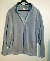 Old Navy Mens Dark Gray Fleece Jacket Pullover Size 2XL Zippered Collar