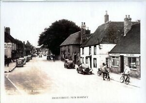 HIGH STREET NEW ROMNEY - Mounted Enlarged Print of Old Photograph - c.1940/50's
