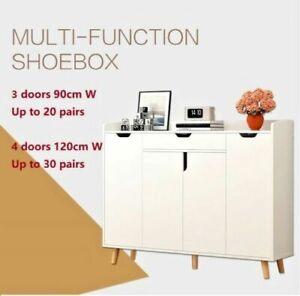 120cm Shoe Cabinet Rack Storage Organizer Cupboard Up to 32 Pairs