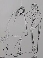 Jean-Louis Forain  Le Mariage  Croquis lithographique  originale 1897