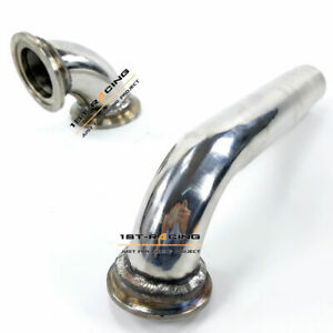SS T-304 90 Degree Inlet Elbow+Outlet Pipe Fit Tial MVR 38 MM Wastegate V38
