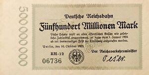 Germany: Banknote 500.000.000 Mark - Berlin 1923 - 06736-RH-12