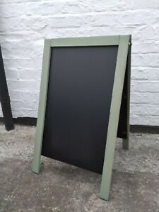 Sage Green Wooden A Board - Chalkboard - Blackboard - Pavement Sign - 70 x 40cm