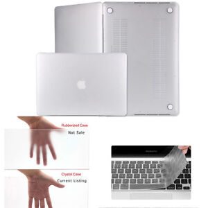 """Rubberized Hard Case Shell for Apple Macbook AIR/PRO 13"""" 13.3inch+Keyboard Cover"""