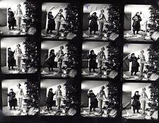 Santa w/Topless Wind-up Doll HENDRICKSON Negative Photographs Contact Sheet D813