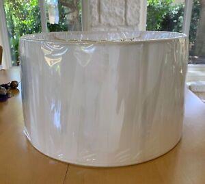 Monter Lite Fine String Hand Sewn Lampshade Off White Drum NIP