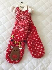 Accessorize Slipper Socks Christmas BNWT Lined & Thick UK4-7 Gift Idea