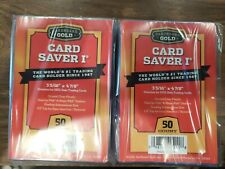 100 ct.- New CBG Card Saver 1 Semi Rigid For Graded Submissions PSA