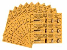 1972 Detroit Tigers LCS Full Unused Tickets - MAJOR FIND of 99 Are PSA Ready