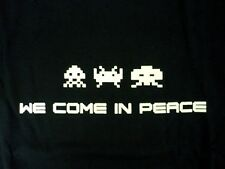 WE COME IN PEACE SPACE INVADERS T-SHIRT High Quality Screen Print XL ONLY