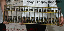 Collect Ancient Chinese Dynasty Palace Pure Bronze Counting Frame Abacus Statue