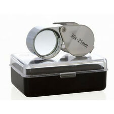 30x21mm Jeweler Eye Loupe Magnifier Magnifying Jewelry Diamond Glass Lens Silver