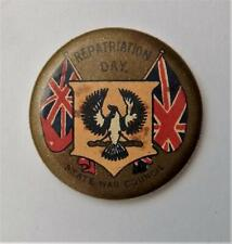 World War I Australia Repatriation Day State War Council Pinback Button Badge