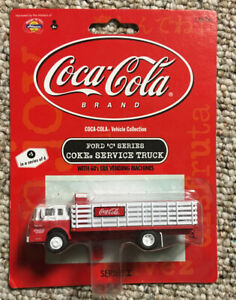 EXCELLENT! ATHEARN, Ford C COCA-COLA Stakebed Truck HO Scale (1:87) Vehicle