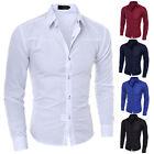 Herren Hemd Business Hochzeit Freizeit Polo T-Shirt Langarm Anzug Oberhemd Tops