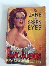 British gangster paperback. Hank Janson. Reginald Heade cover