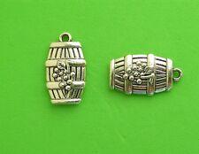 12x Wine Barrel Vineyard Holiday Travel Tibetan Silver Charm Pendant
