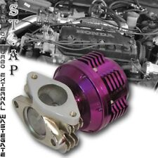 Jdm Turbocharger Turbo/Manifold 35Mm/38Mm Ribbed Exhaust Spring Wastegate Purple
