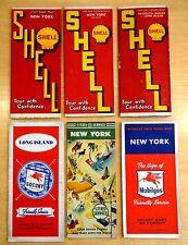 6 Gas Station Road Maps NEW YORK LONG ISLAND WORLD'S FAIR  Brooklyn 1930's-1940s