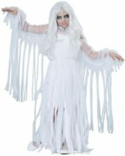 Girls Ghost Costume Scary Spirit Large Size 10-12 Kids Halloween Costumes
