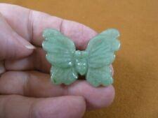 Y-But-572 Green Aventurine Butterfly stone figurine gemstone carving butterflies