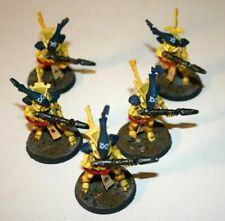 Warhammer 40k Eldar Craftworlds 5 Wraithguard Pro-Painted