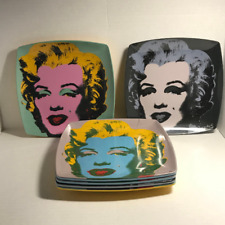 Precidio Objects Set of 6 Marilyn Monroe Pop Art Andy Warhol Melamine Plates