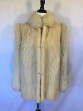 Vintage Maison Blanche SAGA Mink Fur Coat Cream Ivory Mink Jacket Size 12 EUC