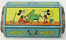 rare 1930's MICKEY MOUSE FLOOR SWEEPER Ohio Art Disney tin litho
