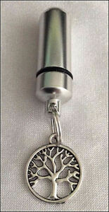 Cremation Jewellery Ashes Urn w Tree of Life Keepsake Memorial Necklace