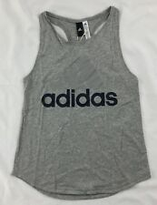 Adidas Women's Essential Linear Loose Tank Top Gray S97223 Size S