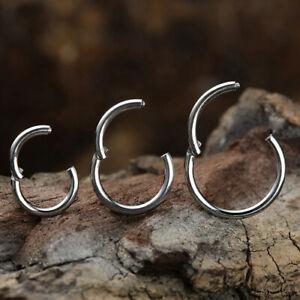 TITAN Clicker Hinged Segment Ring mit Scharnier Piercing Septum Ohr Augenbraue