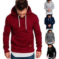 Men's Hoodie Hooded Coats Jacket Sweater Sweatshirt Jumper Tops Outwear M-3XL