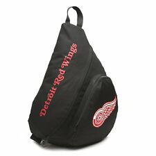 Detroit Red Wings NHL Black Book Bag Camera Back Pack School Slingback Case