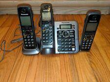 Panasonic Kx-Tg7641 Dect 6.0 Cordless Phone System 3 Phones Bundle set